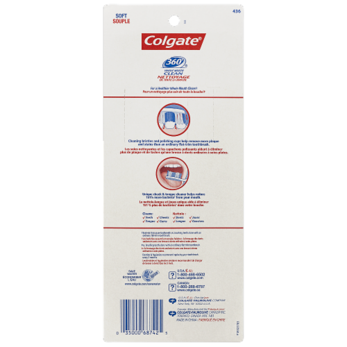 Colgate 360 Toothbrush Value Pack Perspective: back
