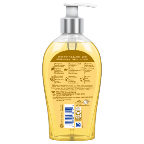 Softsoap Sweet Lemon & Gardenia Scent Liquid Hand Soap Perspective: back