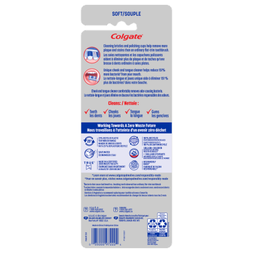 Colgate 360 Whole Mouth Clean Soft Toothbrush Perspective: back