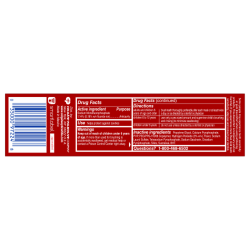 Colgate Optic White Renewal Toothpaste Perspective: back