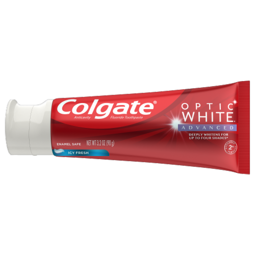 Colgate Optic White Icy Fresh Toothpaste Perspective: back
