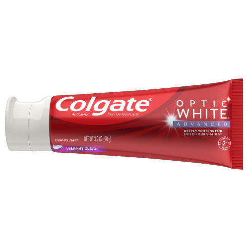 Colgate Optic White Vibrant Clean Toothpaste Perspective: back