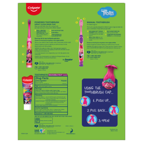 Oral Care Kids Trolls Hygiene Set Perspective: back