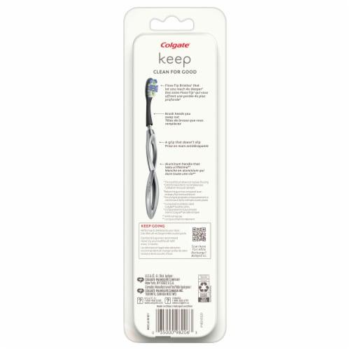 Colgate Keep Deep Clean Soft Bristle Toothbrush Starter Kit Perspective: back