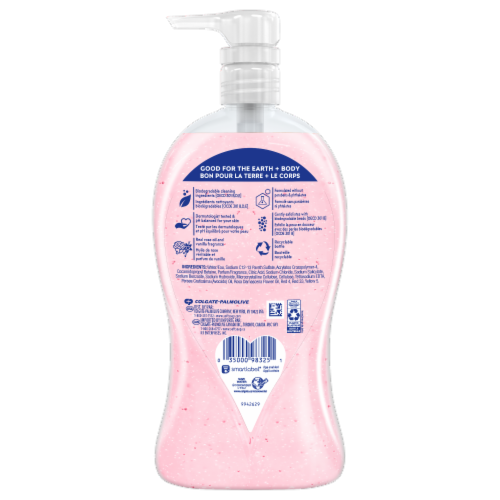 Softsoap Lustrous Glow Pink Rose and Vanilla Body Wash Perspective: back