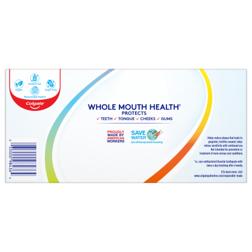 Colgate Total Whole Mouth Health Gum Protection Toothpaste Perspective: back