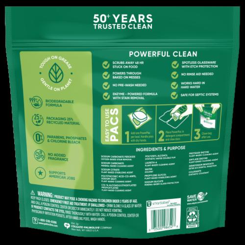 Palmolive Power Pacs Dishwasher Detergent Perspective: back