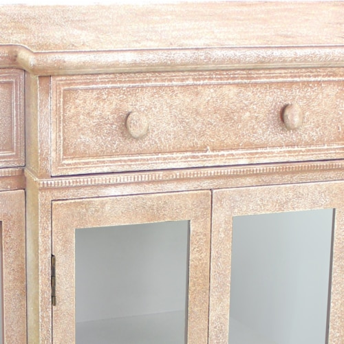 Vintage French Style Distressed Hallway Cabinet Perspective: back