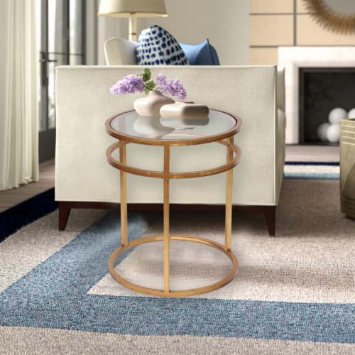 TETON HOME MINIMALIST GOLD COFFEE TABLE - AF-118 Perspective: back