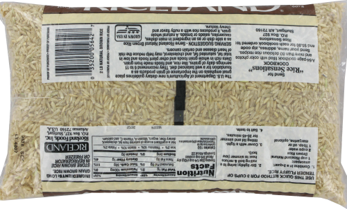 Riceland Natural Brown Rice Perspective: back
