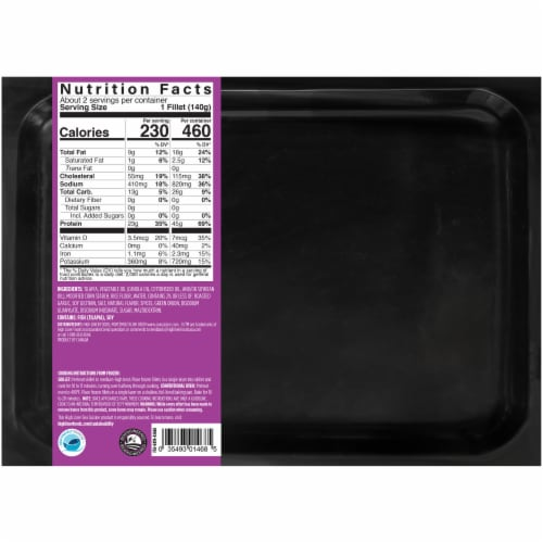 Sea Cuisine Pan Sear Garlic & Herb Tilapia Frozen Meal Perspective: back