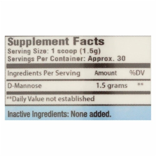 Cleartract D-Mannose Formula Powder - 50 g Perspective: back