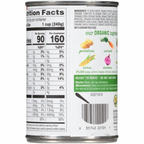 Health Valley® Organic Vegetable Soup Perspective: back