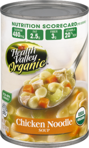 Health Valley Organic Chicken Noodle Soup Perspective: back