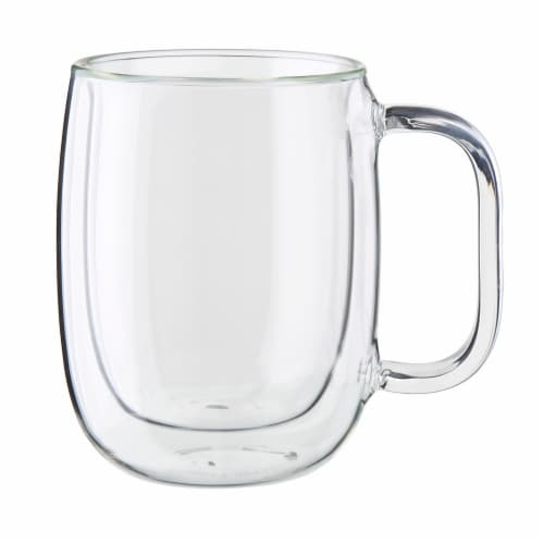 ZWILLING Sorrento Plus 4-pc Double-Wall Glass Coffee Mug Set, Clear Perspective: back