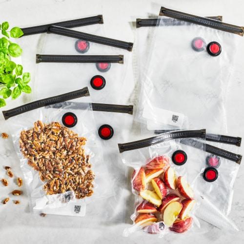 ZWILLING Fresh & Save 10-pc Vacuum Sealer Bags, Sous Vide Bags, Meal Prep - Medium Perspective: back