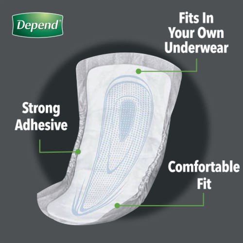 Depend Maximum Absorbency Incontinence Guards for Men Perspective: back