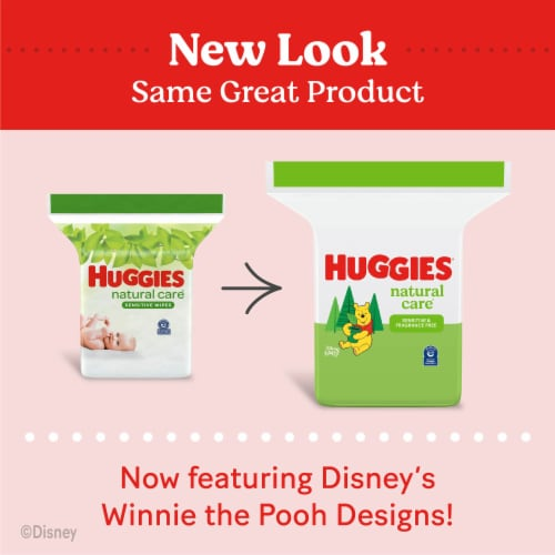 Huggies Natural Care Sensitive Unscented Baby Wipes Refill Pack Perspective: back