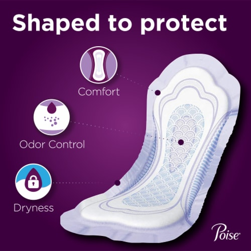 Poise Regular Length Maximum Absorbency Incontinence Pads Perspective: back