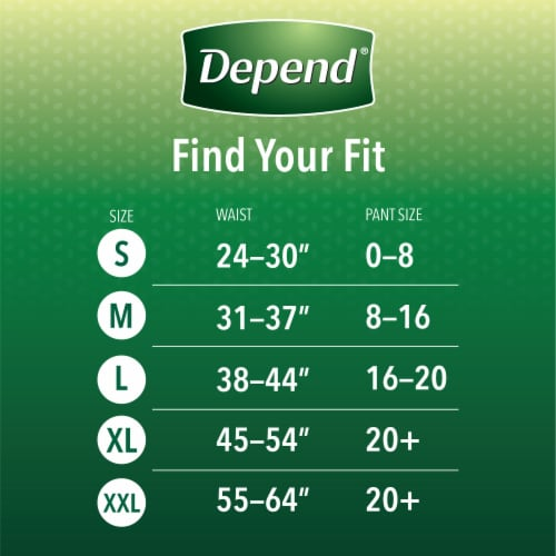 Depend Large Maximum Absorbency Fit-Flex Incontinence Underwear for Women Perspective: back