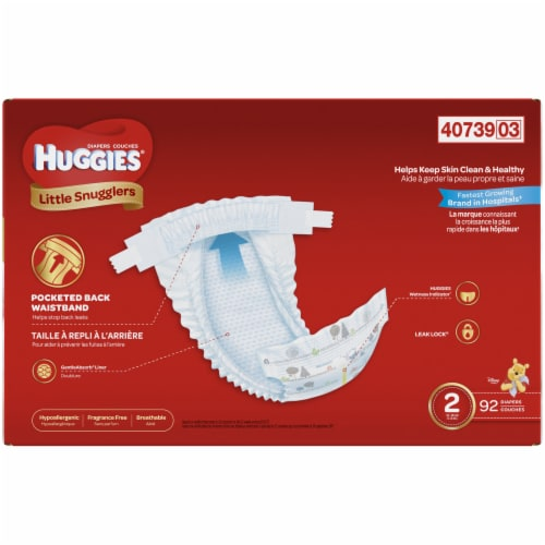 Huggies Size 2 Little Snugglers Diapers Perspective: back
