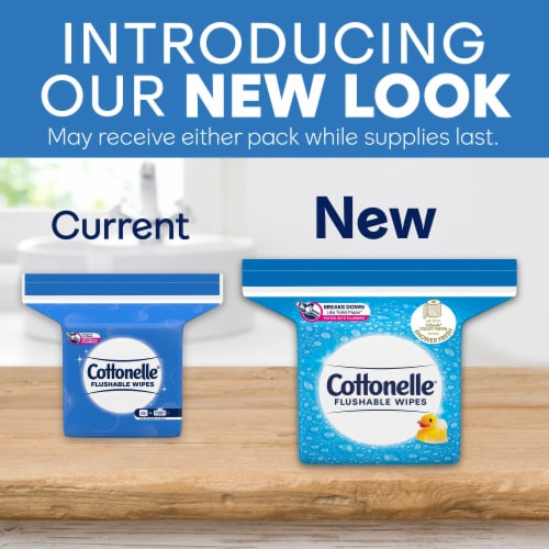 Cottonelle Flushable Wipes Refill Perspective: back