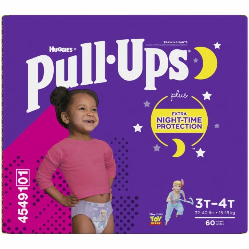 Pull-Ups 3T-4T Girls Night Time Training Pants Perspective: back