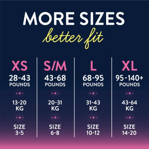 GoodNites XS Bedwetting Underwear for Girls Perspective: back