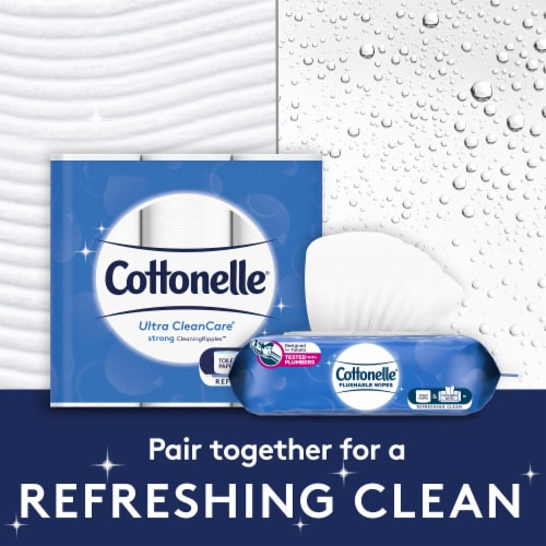 Cottonelle Ultra CleanCare Double Roll Toilet Paper Perspective: back