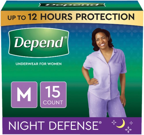 Depend Night Defense Size Medium Incontinence Underwear for Women Perspective: back