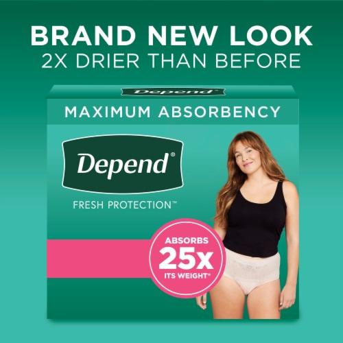 Depend FIT-FLEX Maximum Absorbency Medium Incontinence Underwear for Women Perspective: back
