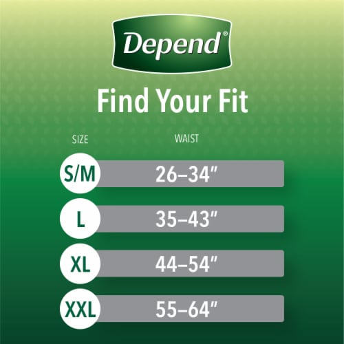 Depend Fit-Flex Size Large Maximum Absorbency Incontinence Underwear for Men Perspective: back