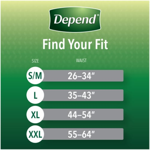 Depend Fit-Flex Size Extra Large Maximum Absorbency Incontinence Underwear for Men Perspective: back