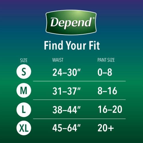 Depend Night Defense Medium Women's Underwear Perspective: back