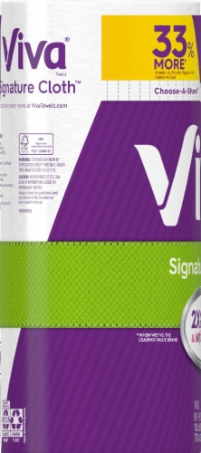 Viva Signature Cloth Choose-A-Sheet Paper Towels White Big Roll Perspective: back