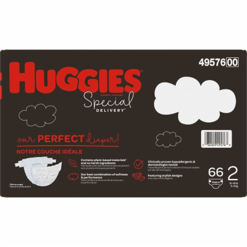 Huggies Special Delivery Size 2 Baby Diapers Perspective: back