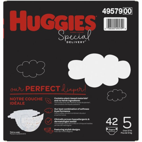 Huggies Special Delivery Size 5 Baby Diapers 42 Count Perspective: back