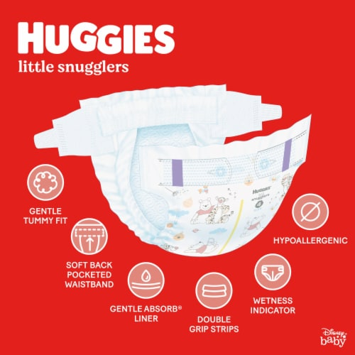 Huggies Little Snugglers Size 4 Baby Diapers Perspective: back