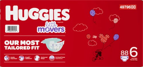 Huggies Little Movers Diapers Size 6 Perspective: back