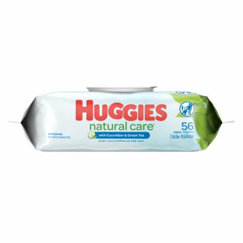 Huggies Natural Care® Refreshing Cucumber & Green Tea Scent Baby Wipes Perspective: back