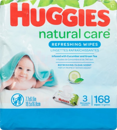 Huggies Natural Care Refreshing Clean Scent Baby Wipes Perspective: back