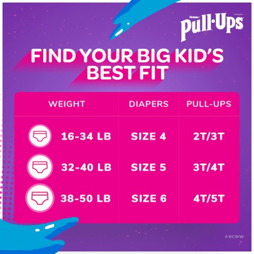 Pull-Ups Learning Designs 2T-3T Girls' Training Pants Perspective: back