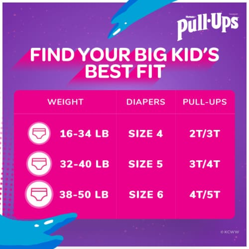 Pull-Ups Learning Designs Girls' Training Pants 3T-4T Perspective: back