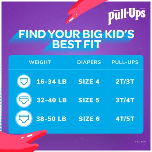 Pull-Ups Learning Designs 4T-5T Boys' Training Pants Perspective: back