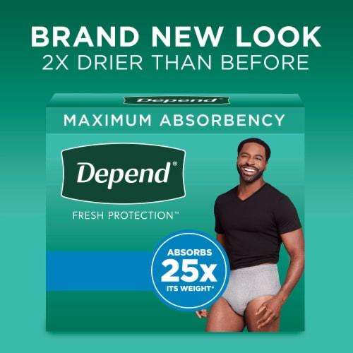 Depend Men FIT-FLEX Maximum Absorbency Large Incontinence Underwear for Men Perspective: back