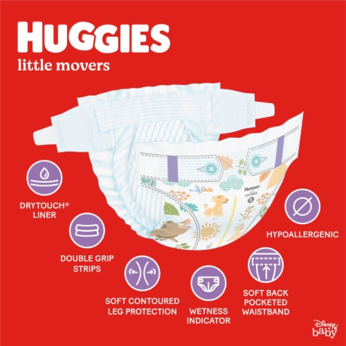 Huggies Little Movers Size 6 Diapers Perspective: back