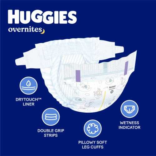 Huggies Overnites Size 4 Baby Diapers Perspective: back