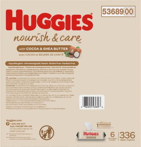 Huggies Nourish & Care Baby Wipes Perspective: back