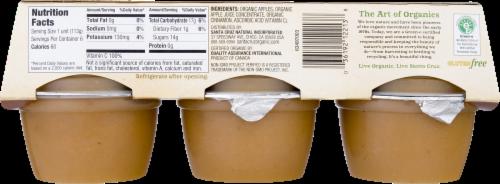 Santa Cruz Organic Applesauce Cups- Cinnamon Perspective: back