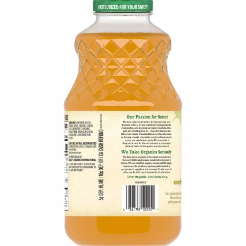 Santa Cruz Organic Mango Lemonade Perspective: back